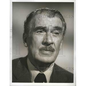 1965 Press Photo ABC TV's The FBI with guest star Walter Pidgeon - lfx04369