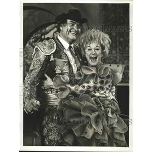 1951 Press Photo The Red Skelton Hour on CBS with Phyllis Diller, Red Skelton