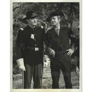 1965 Press Photo F Troop on ABC with Forrest Tucker, Andrew Duggan - lfx04469