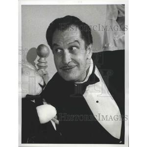1965 Press Photo Vincent Price guest star on The Red Skelton Hour on CBS