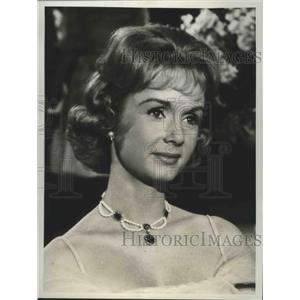 "1961 Press Photo Debbie Reynolds, star of ""The Pleasure of His Company"""