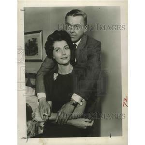 1963 Press Photo Elizabeth Allen, David Wayne in The Thirty first of Feburary