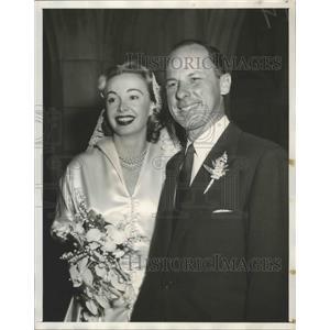 1956 Press Photo TV actress Audrey Meadows weds real estate mogul Randolph Rouse