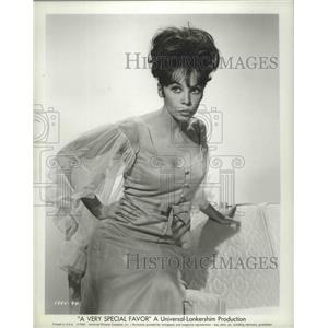 "1965 Press Photo lovely Leslie Caron in ""A Very Special Favor"" - lfx04870"