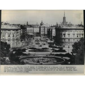 1945 Press Photo Schwarzenberg Square, Vienna, Austria Pre-World War II