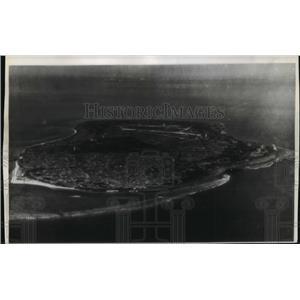 1945 Press Photo Ryukyu Island, Japan Aerial View - ftx00770