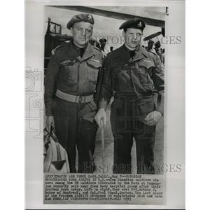 1953 Press Photo Canadian United Nations Soldiers Freed from Panmunjom