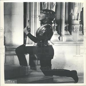 """1956 Press Photo Jean Arthur in """"Saint Joan"""""""