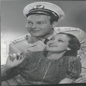 1940 Press Photo Big Blast Film Actors Erikson Lamour - RRY26797