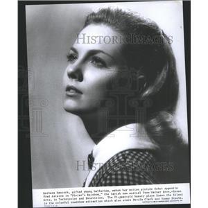 1958 Press Photo Finians Rainbow Film Actress Hancock