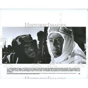 1962 Press Photo Peter O'Toole & Omar Sharif