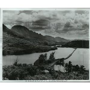 1985 Press Photo Menehune Fishpond on Kauai, Hawaii - mja53960
