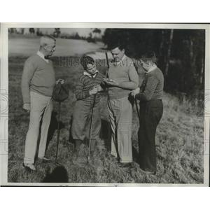 1934 Press Photo John Middleton grandsons Don & William & son CW golf