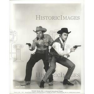 1961 Press Photo Posse From Hell starring Audie Murphy, John Saxon - lfx04893