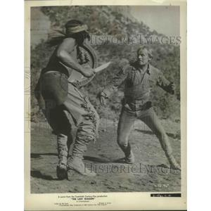 1956 Press Photo The Last Wagon from 20th Century starring Richard Widmark