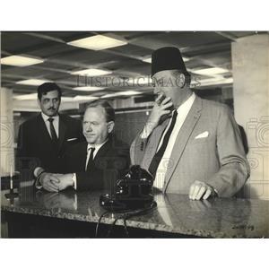 1965 Press Photo 24 Hours To Kill with Mickey Rooney, Walter Slezak. Lex Barker