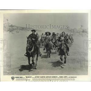 "1965 Press Photo scene from ""Murieta"" starring Jeffrey Hunter, Arthur Kennedy"