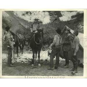 """1962 Press Photo Ron Starr, L. Q. Jones, James Drury in """"Ride The High Country"""""""