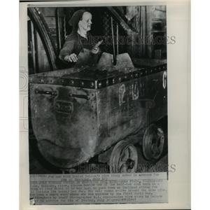 1947 Press Photo Anna Fiala Works in Coal Mine, Pecs, Hungary - ftx01172