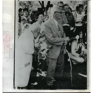 1974 Press Photo Toshiteru Doi at Japanese-American Reunion, Klamath Falls, OR
