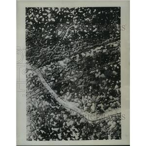 1944 Press Photo French War Zone World War I Aerial View - ftx01225