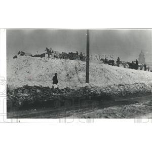 1913 Press Photo Snow Dump In Denver