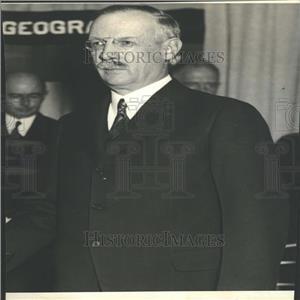1934 Press Photo Dr. Grosvenor Pres Nat'l Geographic
