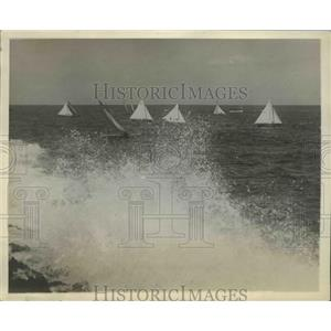 1930 Press Photo International Yacht Races Star Class Rounding Turn - ney26302