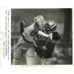 1987 Press Photo Tyrone Young at Training Camp, New Orleans - noa00816