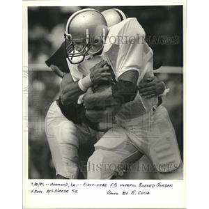 1986 Press Photo New Orleans Saints - First year FB hopeful Buford Jordon.