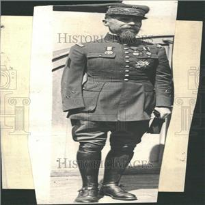 """1923 Press Photo General Gouraud, The """"Lion of Argonne"""""""