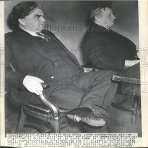1939 Press Photo C.I.O. Chairman John Lewis Harry Bates