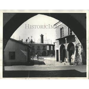 1934 Press Photo Streets of the Spanish Villiage