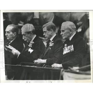 1936 Press Photo King Edward VIII/Armistice Day/WWI