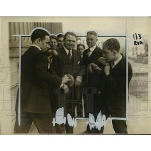 1927 Press Photo Denny Dawson, John B Sosnowski, George Welsh, G Blanks Jr