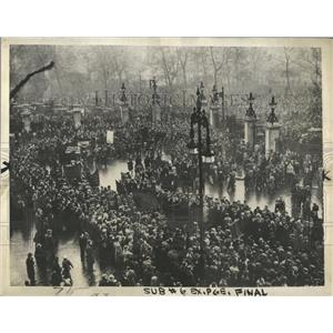 1934 Press Photo Hyde Park Demonstration England