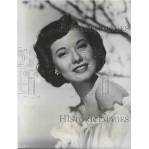 """1951 Press Photo Radio Actress Peggy Dow to Star in """"I Want You"""" Movie"""