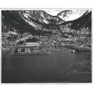1963 Press Photo Juneau, Alaska Boat Harbor - ftx01868