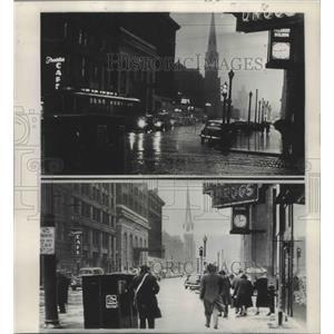 1949 Press Photo Minneapolis, Minnesota Weather Thrust - ftx02268