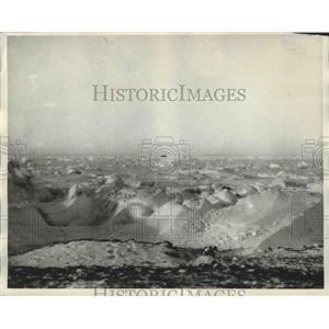1931 Press Photo Pack Ice on Siberian Coast on Charles Lindbergh Flight