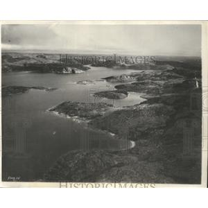 1931 Press Photo Baker Lake & Aklavik MacKenzie River on Lindbergh Flight