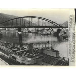 1938 Press Photo Teschen, Czechoslovakia, River Elbe - ftx02153