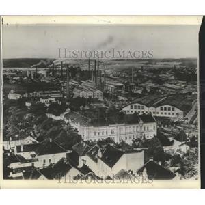 1939 Press Photo Kladno, Bohemia Aerial View - ftx02158