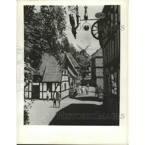 """1983 Press Photo Aahus, Denmark """"Old Town"""" - ftx02414"""