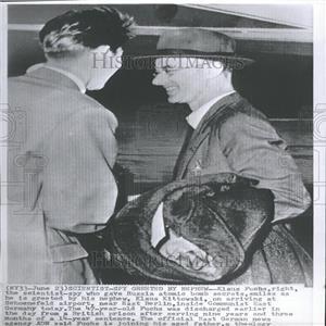 1959 Press Photo Klaus Fuchs and Klaus Kittowski