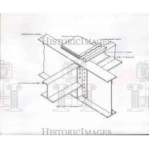 1960 Press Photo Stringers Inverted J Seat Tracks Rest on Goodyear Aircraft
