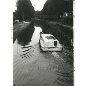1923 Press Photo Canals of France