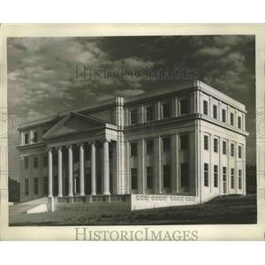 1943 Press Photo Historic Dept. of Archives and History Building in Montgomery