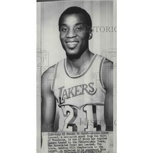 1968 Press Photo LA Lakers basketball player, Archie Clark, traded to the 76ers