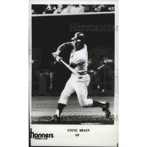 1977 Press Photo Steve Braun of Mariners Baseball Club - sps01301